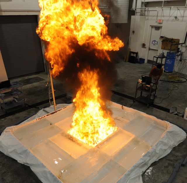 1 x1 m ice cavity burn